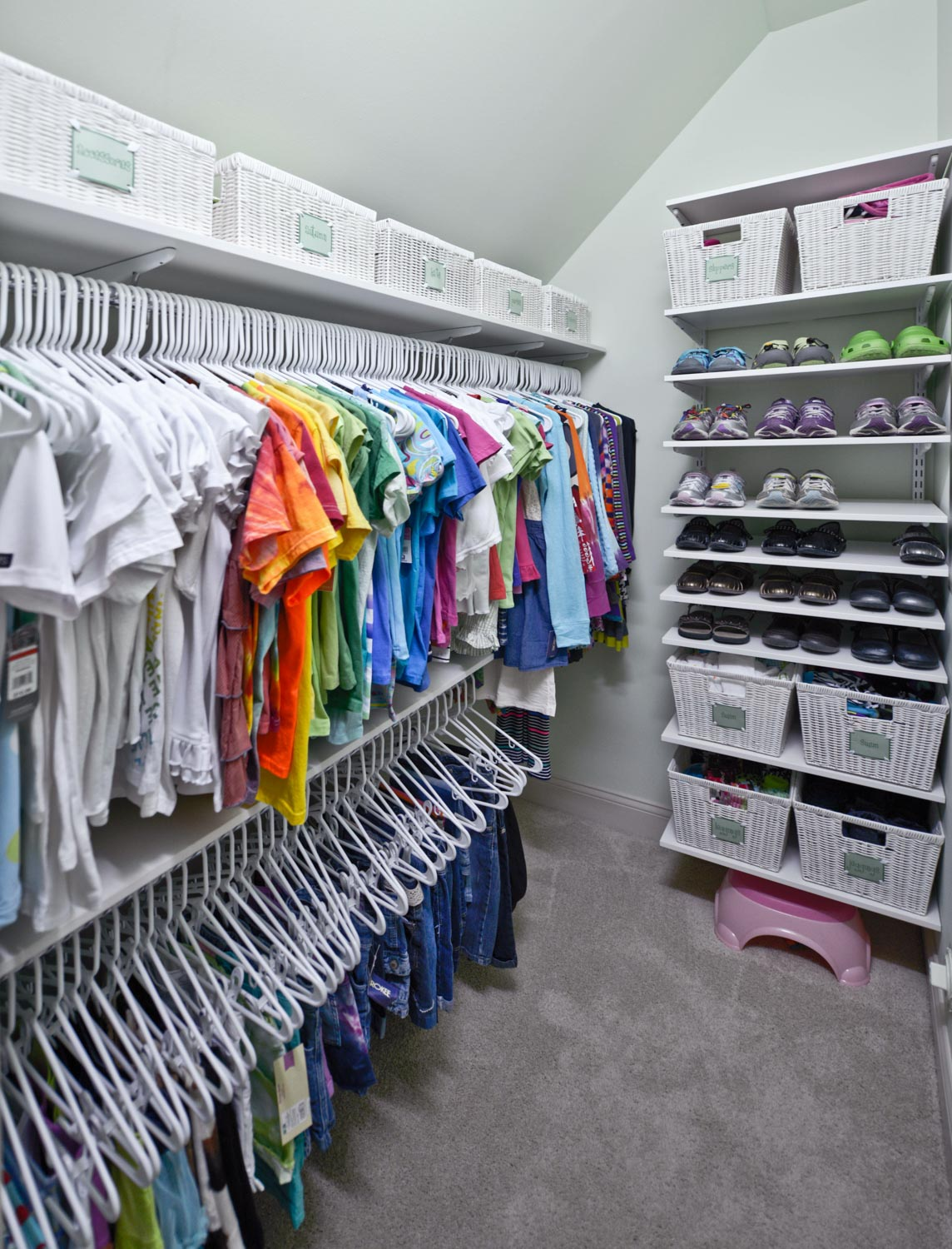 Kids closets for Organized walk in closet