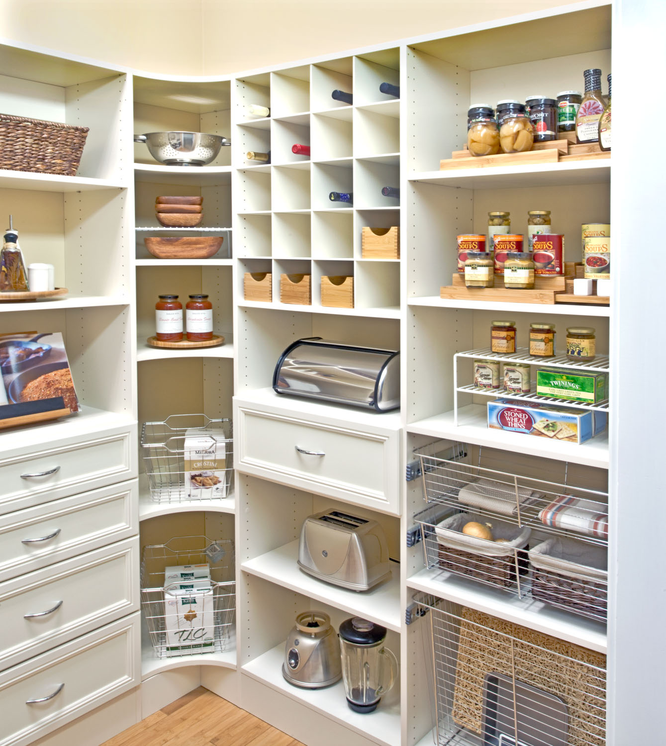 Organized living pantry shelving for Best pantry shelving system