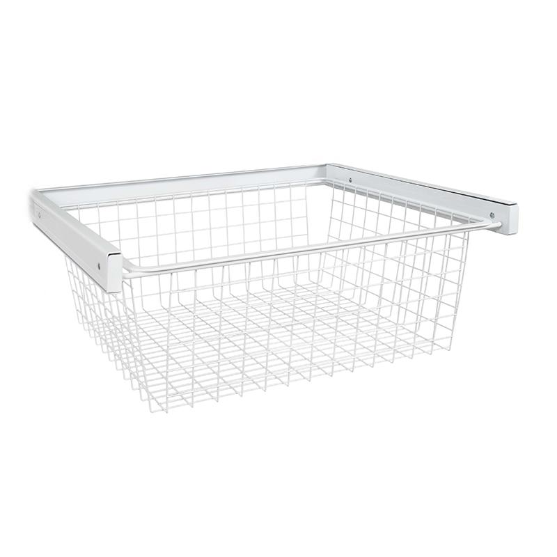 Organized Living Freedomrail Reveal Wire Basket White