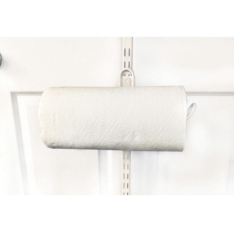 Over The Door Paper Towel Holder   White