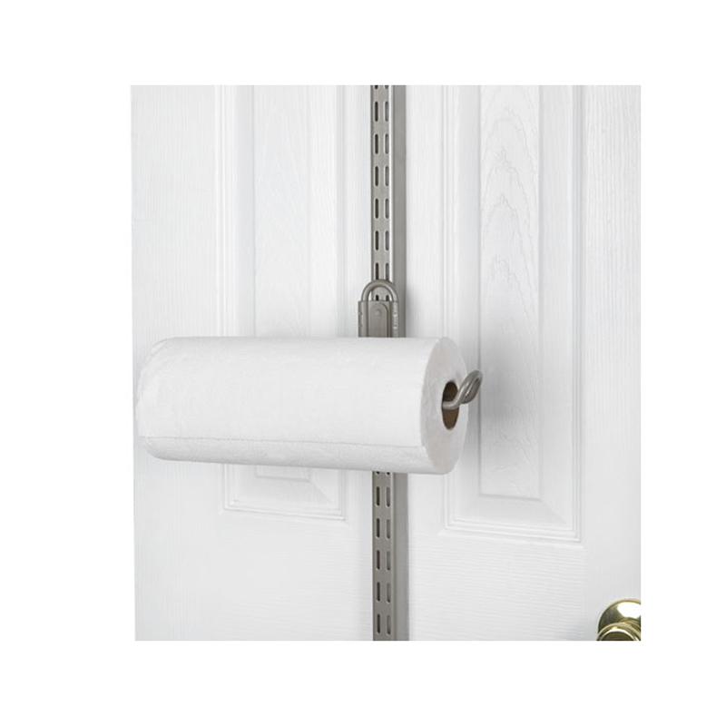 Organized Living Over The Door Paper Towel Holder Nickel