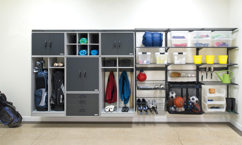 Organized living freedomrail garage storage and cabinets