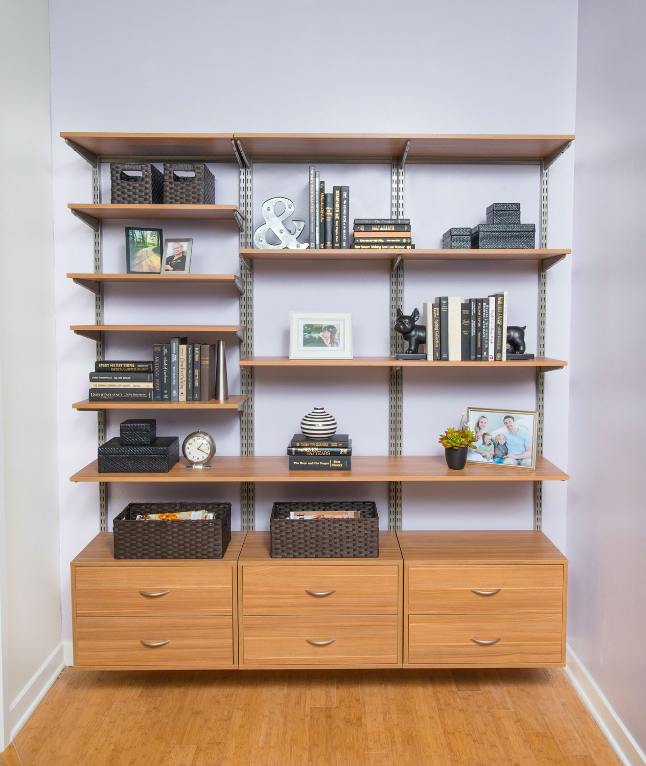 Organized living freedomrail adjustable shelving 18 more amipublicfo Image collections