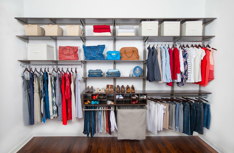 Organized Living | freedomRail adjustable shelving