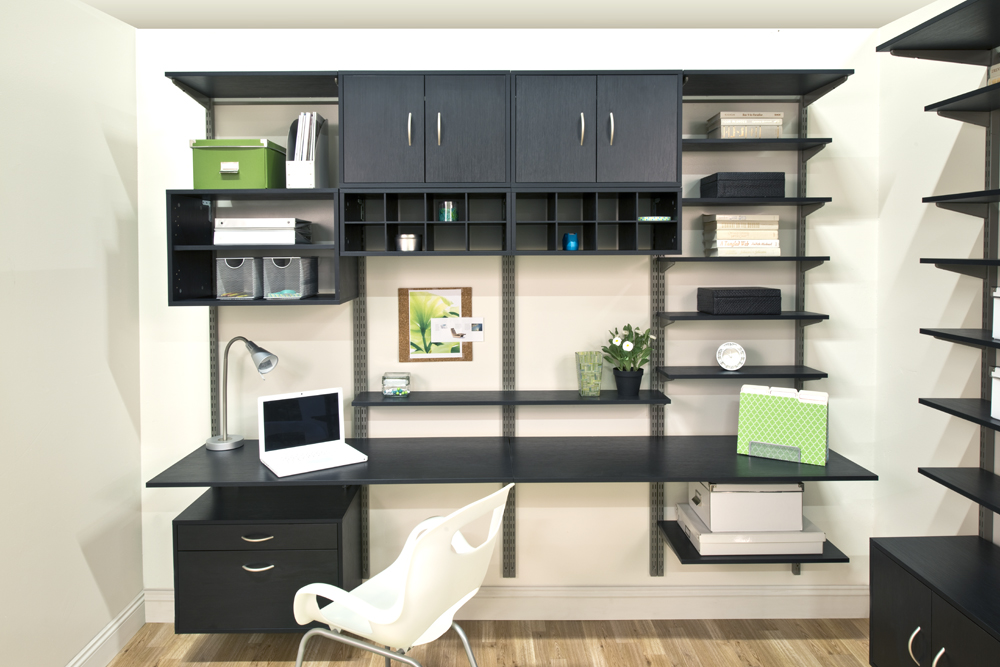 Organized Living freedomRail adjustable shelving