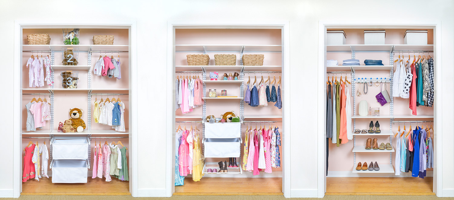 Organized living kids closets and storage for Kids room closet ideas