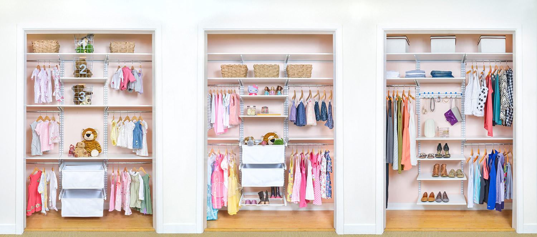 Organized living kids closets and storage for Kids room closet ideas