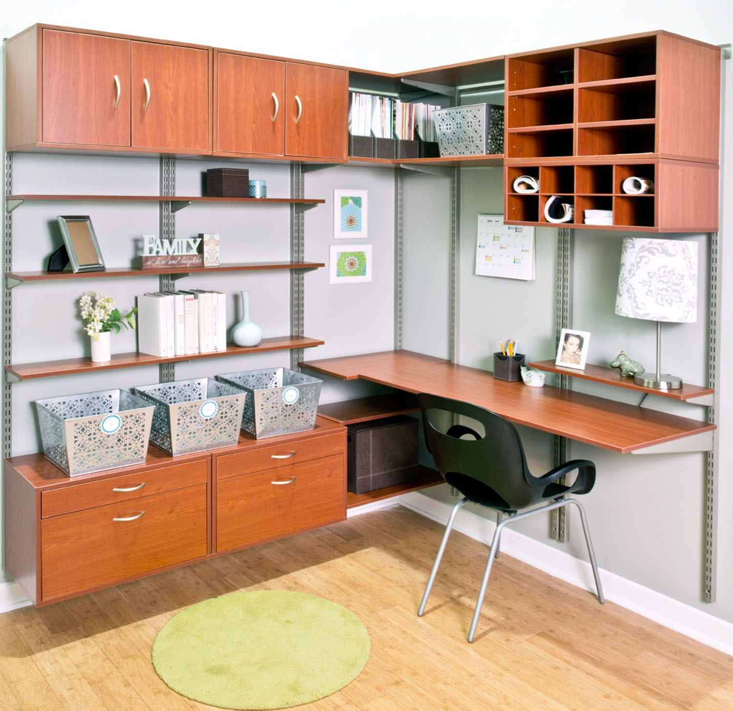 Home office organisation Neat 11 More Organized Living Organized Living Home Storage Solutions