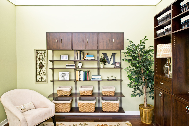 organized living home storage solutions rh organizedliving com how to organize living room shelves how to organize living room dining room combo