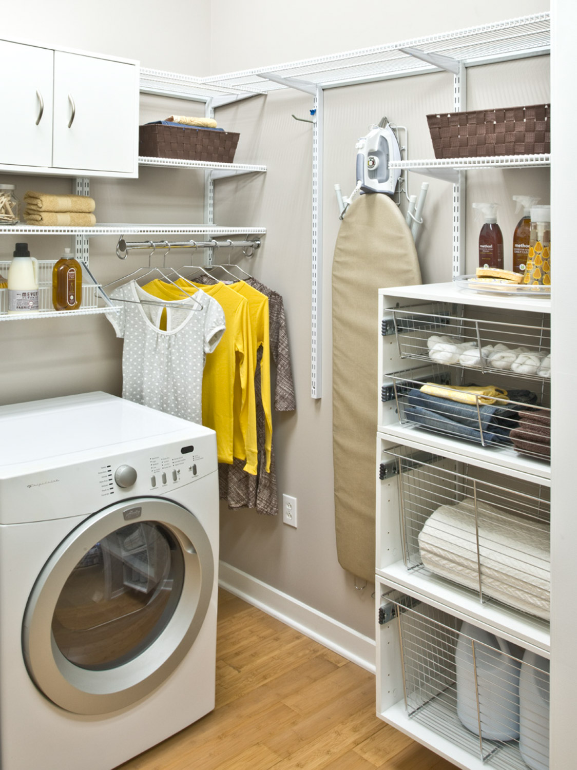 Laundry Room Closet Organization Ideas Part - 15: Organized Living