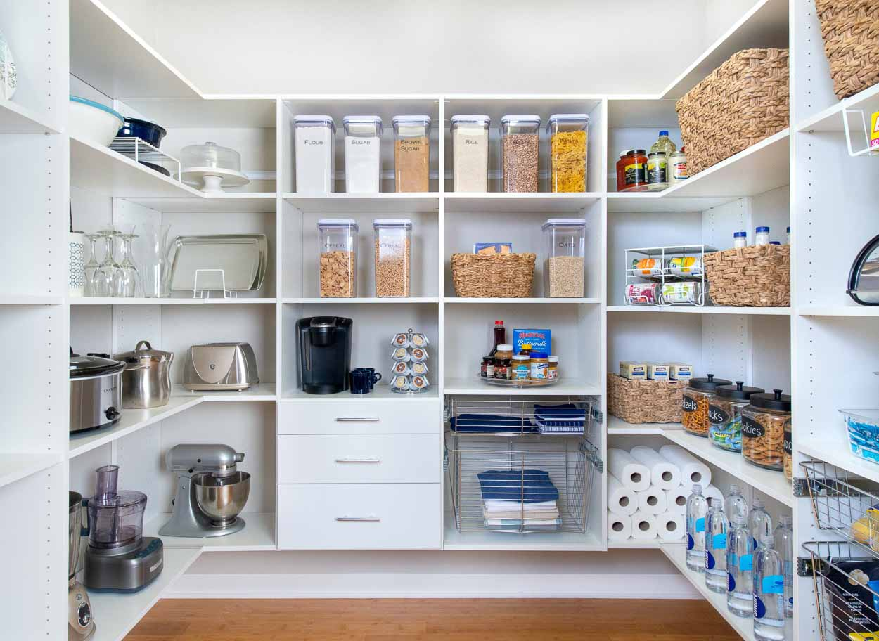 Organized Living Pantry Shelving