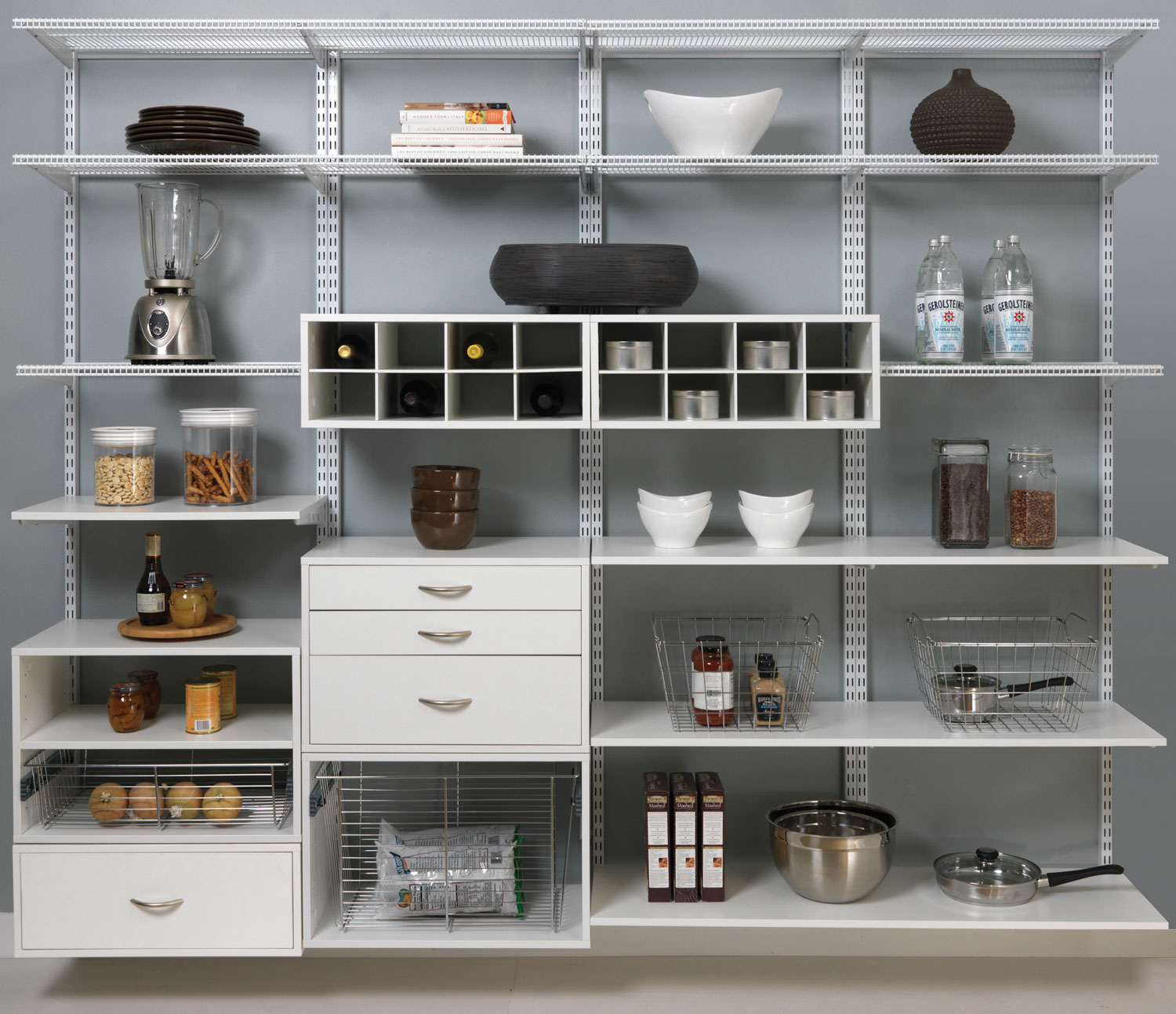 Shelving Ideas For Pantry Corner Pantry Shelving Systems: Organized Living